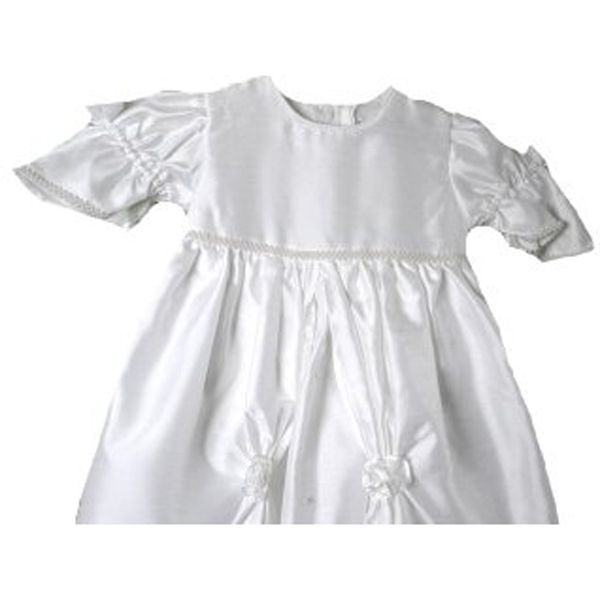 Image 1 of Exquisite Baby Girl Heirloom Boutique Christening Gown/Hat, Unique Angels,White