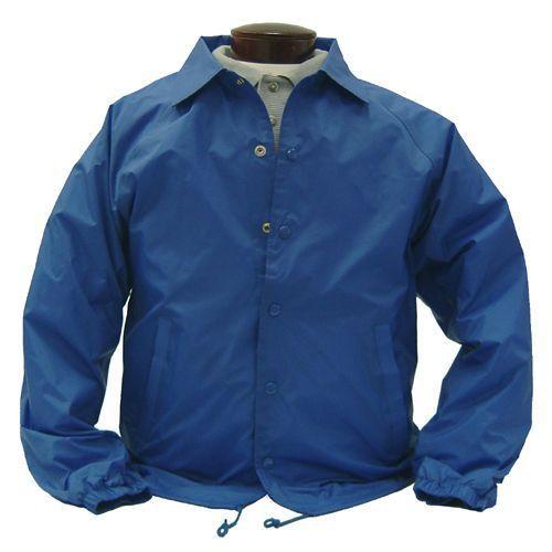 Image 5 of Auburn Kasha Lined Nylon Coach Jacket, Adult Solid Red,Blue,Black,Green L-4XL