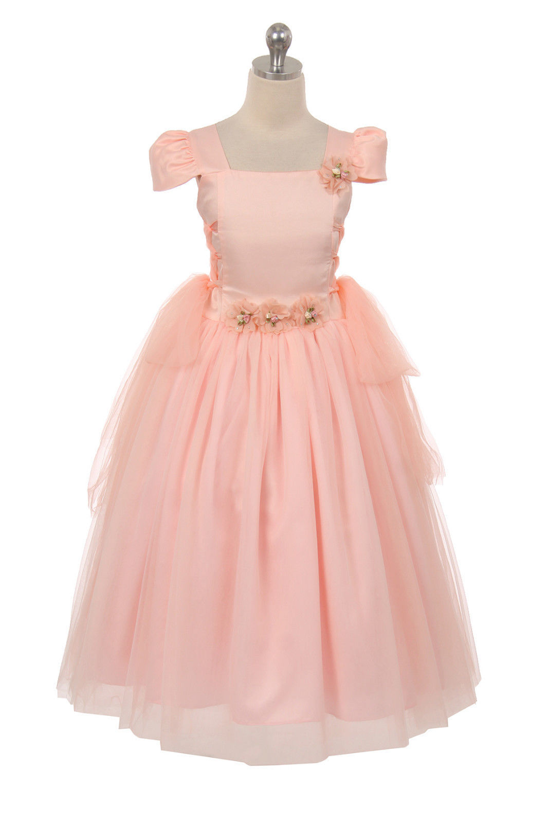 Image 1 of Chic Baby Blush Pink Tea Length Pageant Party Holiday Dress, 2, 4, 6 USA - Blush
