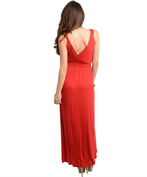 Image 2 of Sexy Party Cocktail Club Cruise Maxi Dress w/Fabric Roses, Black or Red