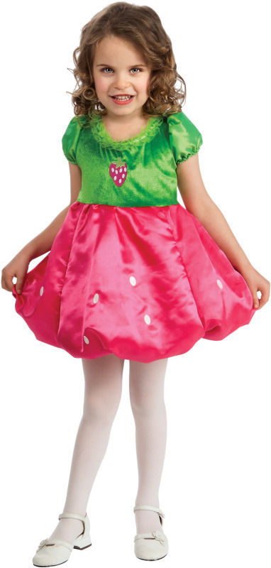 Image 0 of Rubies Adorable Poofy Posh Hot Pink and Green Strawberry Girl's Costume 886793 -