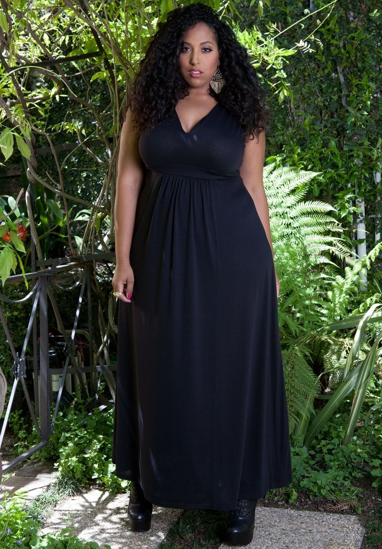 Image 1 of Sexy SWAK Designs Black Plus Size Bonnie Maxi Dress, Party Glamorous - Black