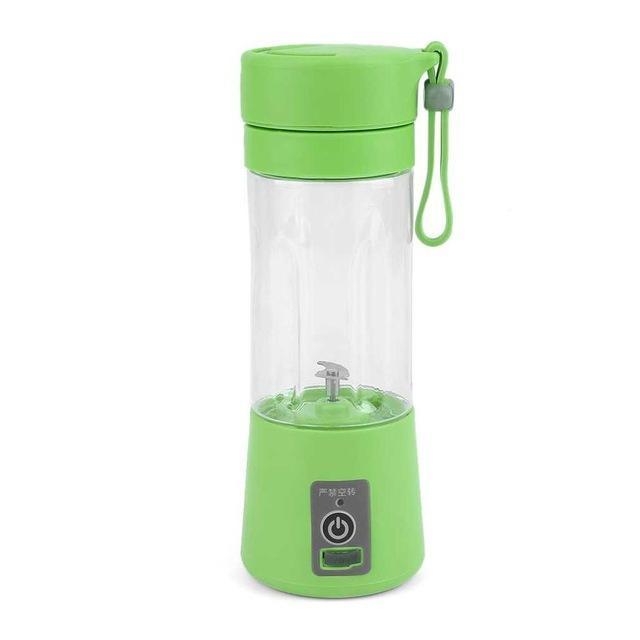 4 Colors 380ml USB Electric Fruit Juicer Handheld Smoothie Maker Blender Recharg - Green