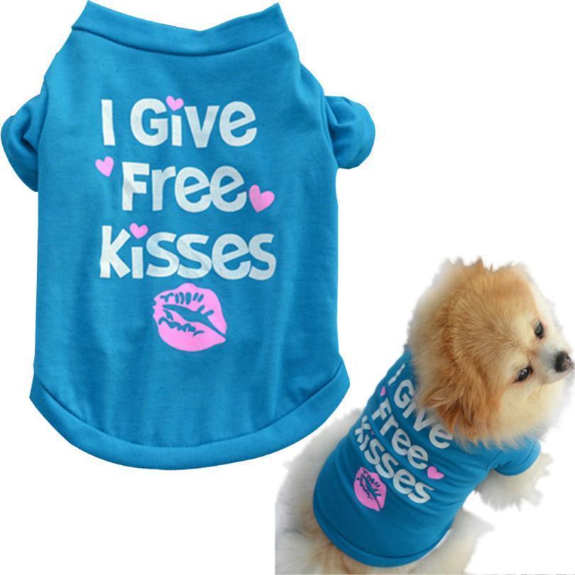 2016 dog clothing Dog clothes Pet Vests Puppy Cat dogs pets clothing wear vest D - Blue - L