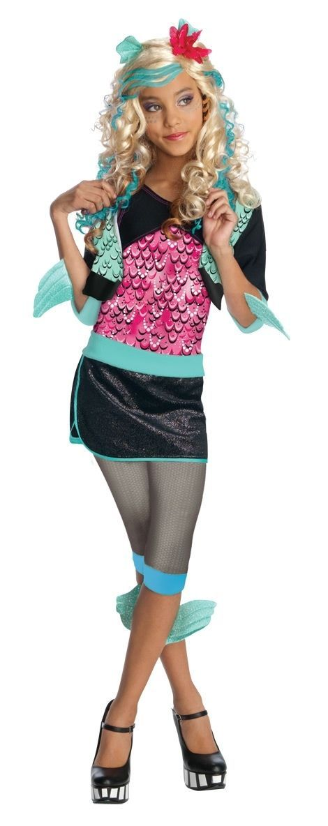 Blonde Fashionista Monster High Lagoona Blue Girl Pink/Aqua Polyester Wig Rubies