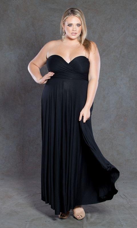 Image 0 of SWAK Designs Sexy Black Eternity Wrap Maxi Dress, Versatile Party Festive Fun -