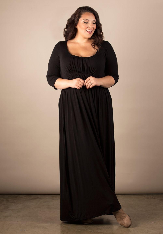 Image 0 of Sexy SWAK Designs Black Plus Size Lois Maxi Dress, Party Glamorous - Black