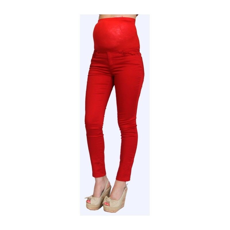 Image 1 of Sexy Fun Rayon Blend Maternity Jeans in Blue or Burgundy Denim S, M, L, XL USA -