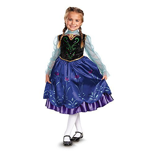 Image 0 of Frozen Princess Anna Deluxe Blue Dress/Vest Child Costume Disguise 57005