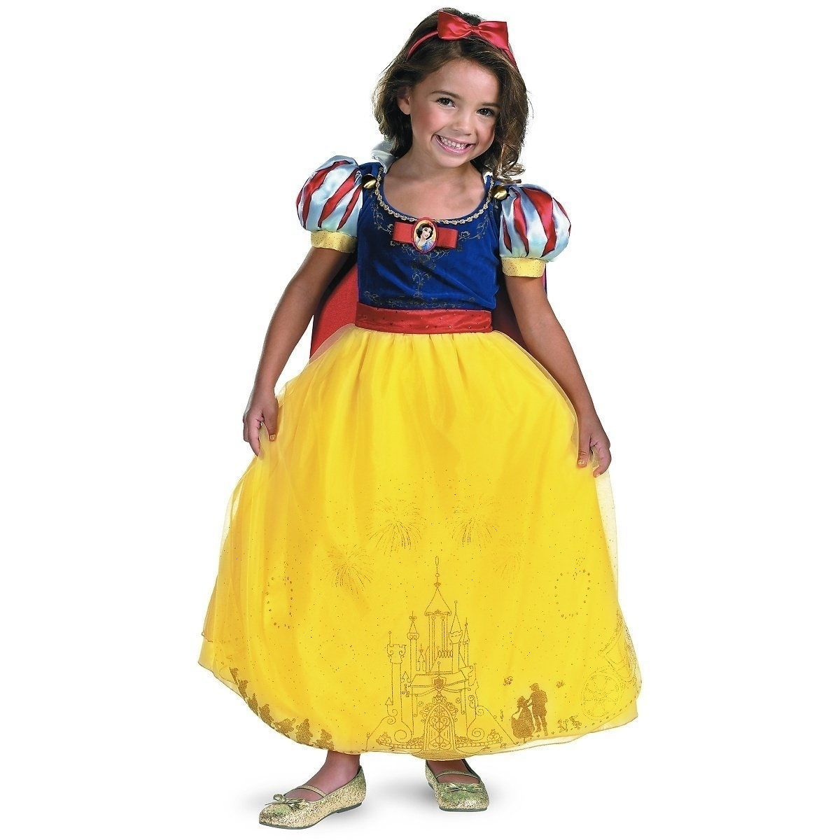 Disney Storybook Princess Snow White Prestige Dress Costume, Disguise, Polyester
