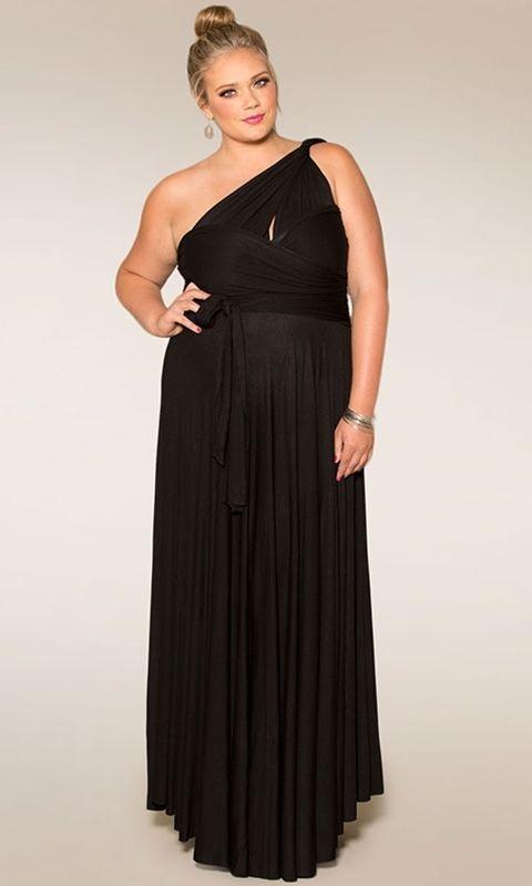 Image 5 of SWAK Designs Sexy Black Eternity Wrap Maxi Dress, Versatile Party Festive Fun -