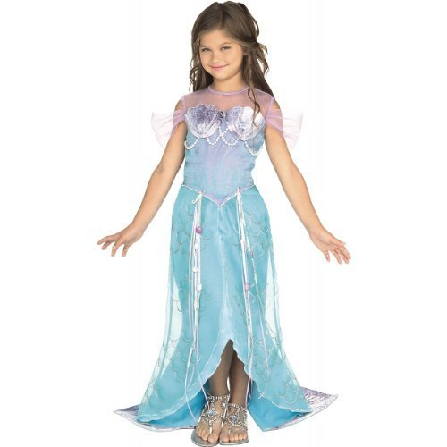 Beautiful Deluxe Blue Mermaid Princess Ariel Dress-up Costume Todd S M, Rubies