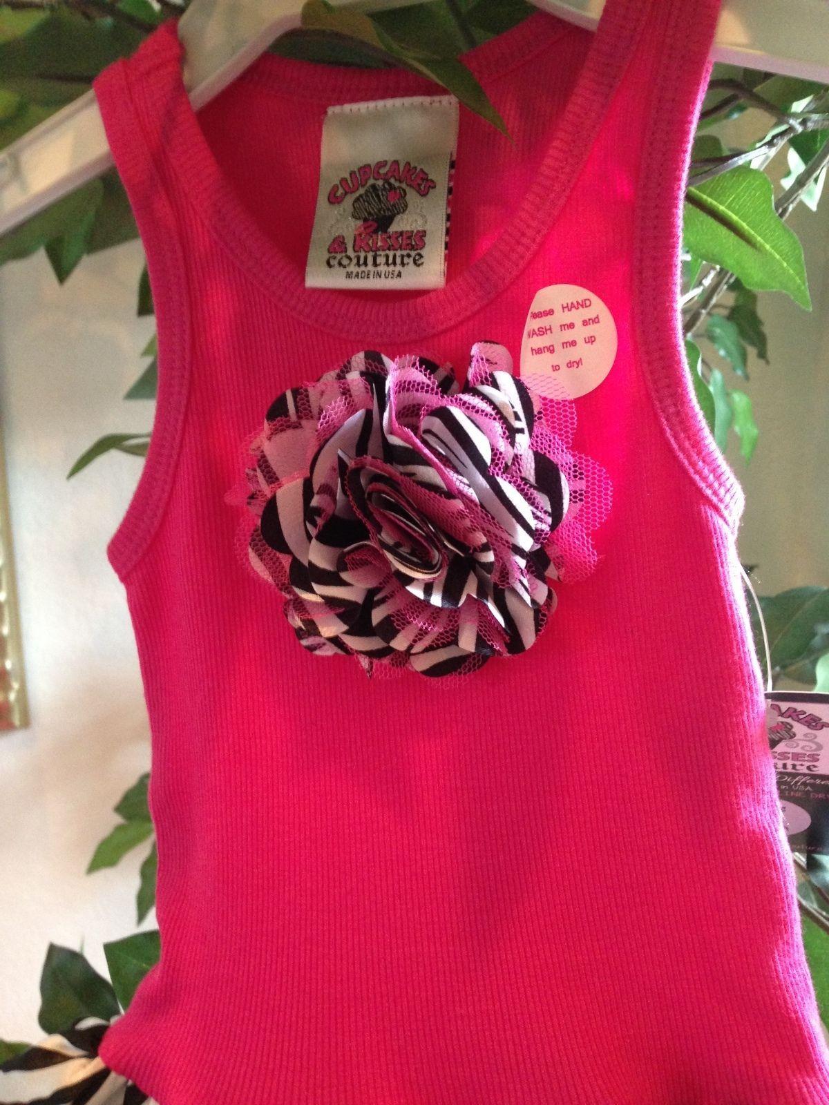 Image 3 of Fun Hot Pink Zebra Chiffon Sleeveless Tutu Dress, 6M-5/6 USA, Cupcakes & Kisses