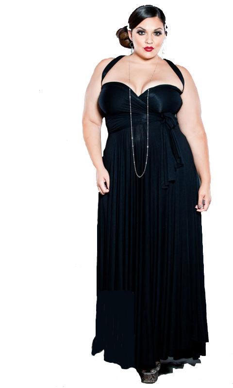 Image 1 of SWAK Designs Sexy Black Eternity Wrap Maxi Dress, Versatile Party Festive Fun -