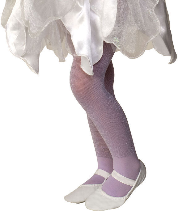 Image 1 of Rubies Girl's Fancy Fashion Dance Nylon Sparkle Tights, Blue Lavender Pink White