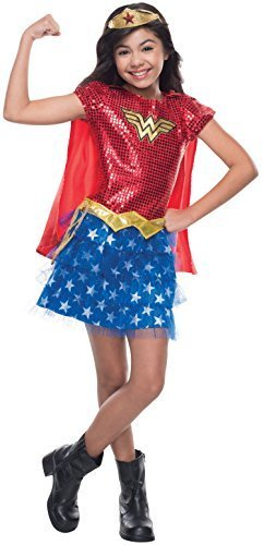 Image 0 of Rubie's Costume DC Superheroes Wonder Woman Sequin Child Costume, Medium