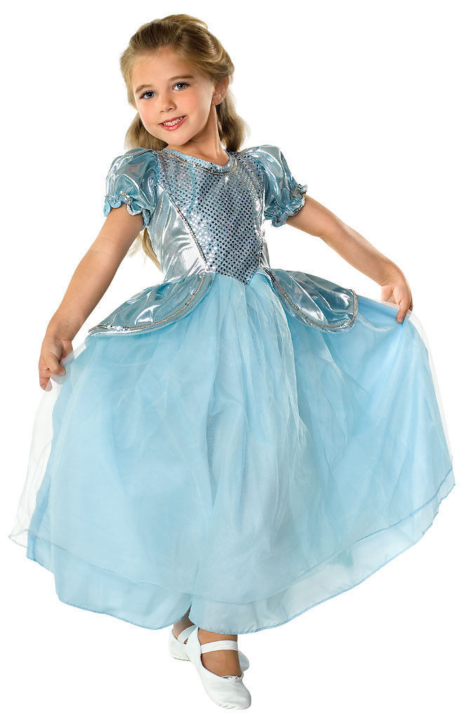 Image 2 of Beautiful Cinderella Palace Princess Aqua Ball Gown Polyester Costume, Rubies -