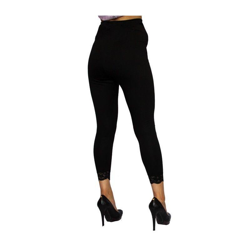 Image 3 of Sexy & Versatile Black Rayon Blend Maternity Capri Leggings USA, S, M, L or XL -
