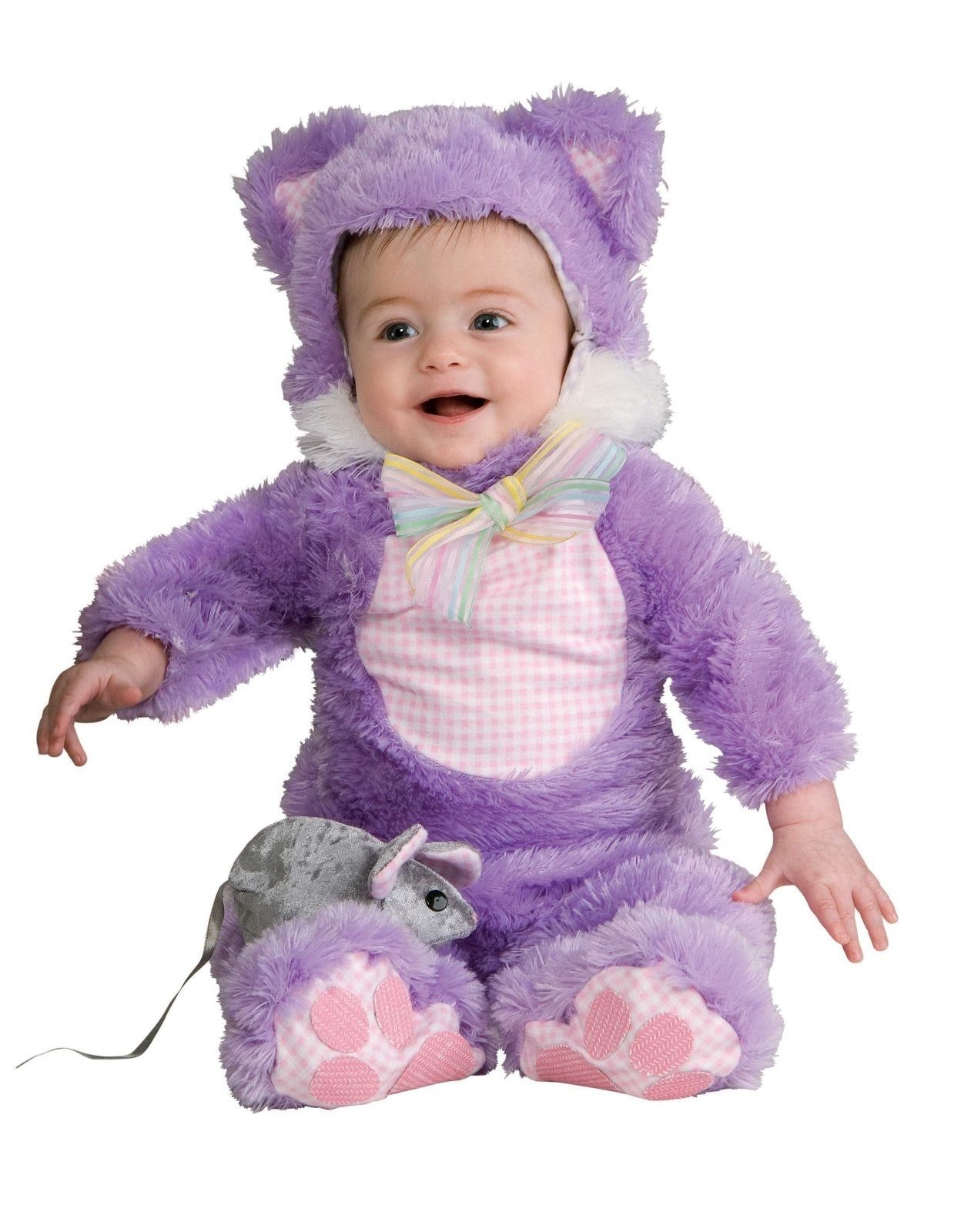 Image 2 of Adorable Plush Inky Black Cat or Purple 885706 Infant Costume Rubies 6-18M