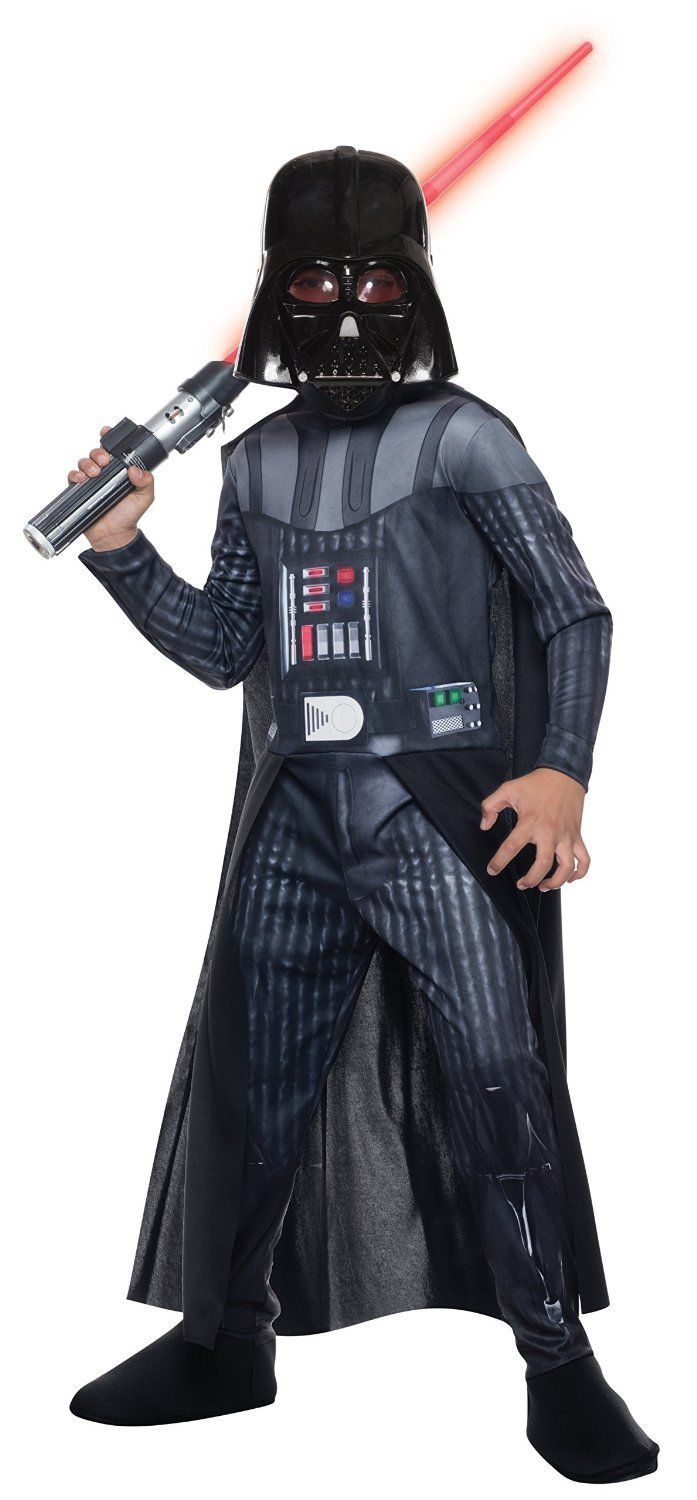 Image 1 of Child's Darth Vader Classic Star Wars Costume:Jumpsuit/Cape/Mask, Rubies 810699