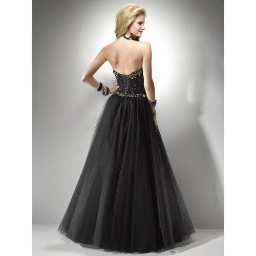 Image 2 of Sexy Strapless Black or Pink Beaded Prom Pageant Evening Gown Dress, Flirt 5794