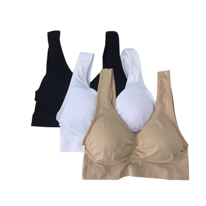 3PC Pregnant Women Bra Underwear Maternity Breastfeeding Nursing Feeding Bra L - Colorful - L