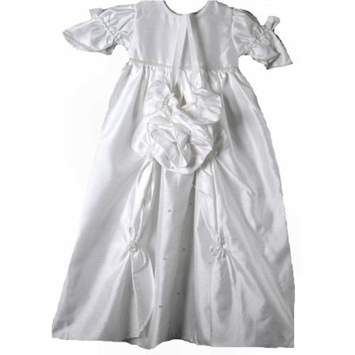 Exquisite Baby Girl Heirloom Boutique Christening Gown/Hat, Unique Angels,White