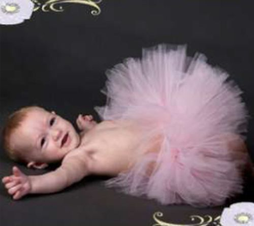 Image 1 of Beautiful Poofy Posh Pink Rosette Pansy Pie Tulle Tutu, Baby Girl/Toddler, USA -