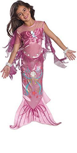 Image 0 of Precious Pink Mermaid Ariel Disney Princess Dress-up Girl Costume, Rubies 882720