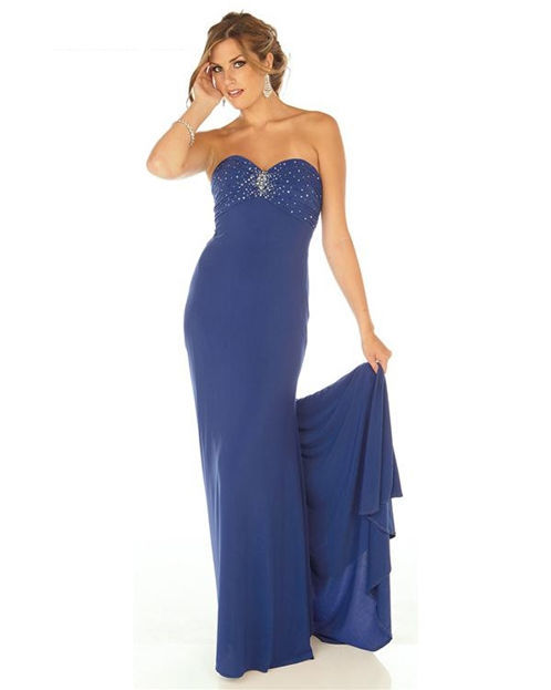 Image 0 of Sophisticated Sexy Strapless Beaded Royal Blue Evening Gown/Prom Dress Joli 9560