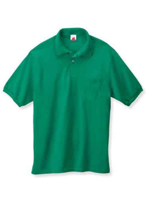 Image 1 of Pocket Polo Golf Shirt Hanes Stedman 0504, Adult Hot Sports Colors Cotton Blend