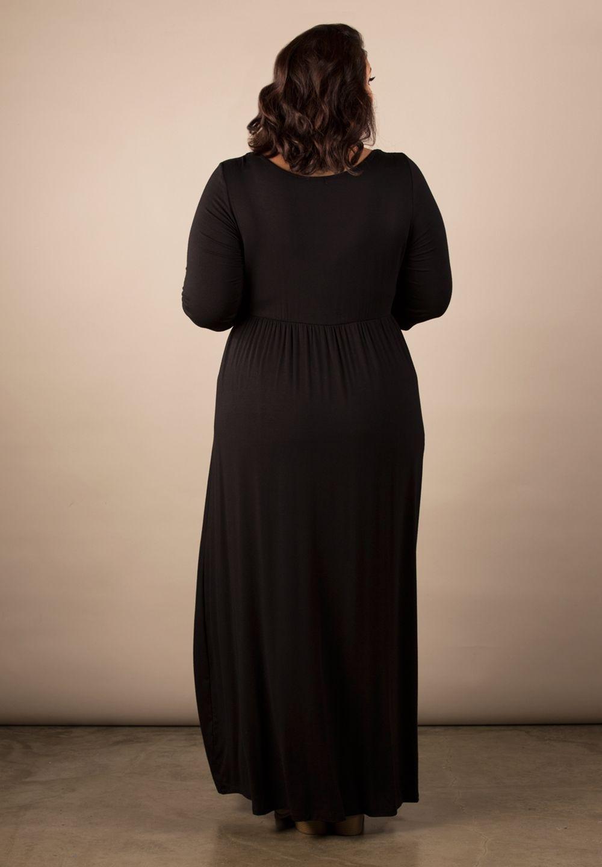 Image 1 of Sexy SWAK Designs Black Plus Size Lois Maxi Dress, Party Glamorous - Black