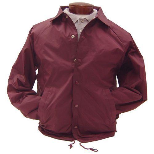 Image 4 of Auburn Kasha Lined Nylon Coach Jacket, Adult Solid Red,Blue,Black,Green L-4XL