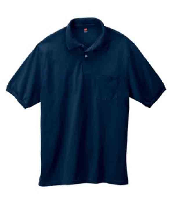 Image 2 of Pocket Polo Golf Shirt Hanes Stedman 0504, Adult Hot Sports Colors Cotton Blend