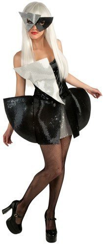 Image 0 of Lady Gaga Black Sequin Dress Teen Costume, Small