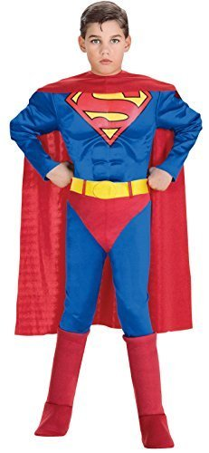 Image 0 of Super DC Heroes Deluxe Muscle Chest Superman Costume, Child's 882626d's