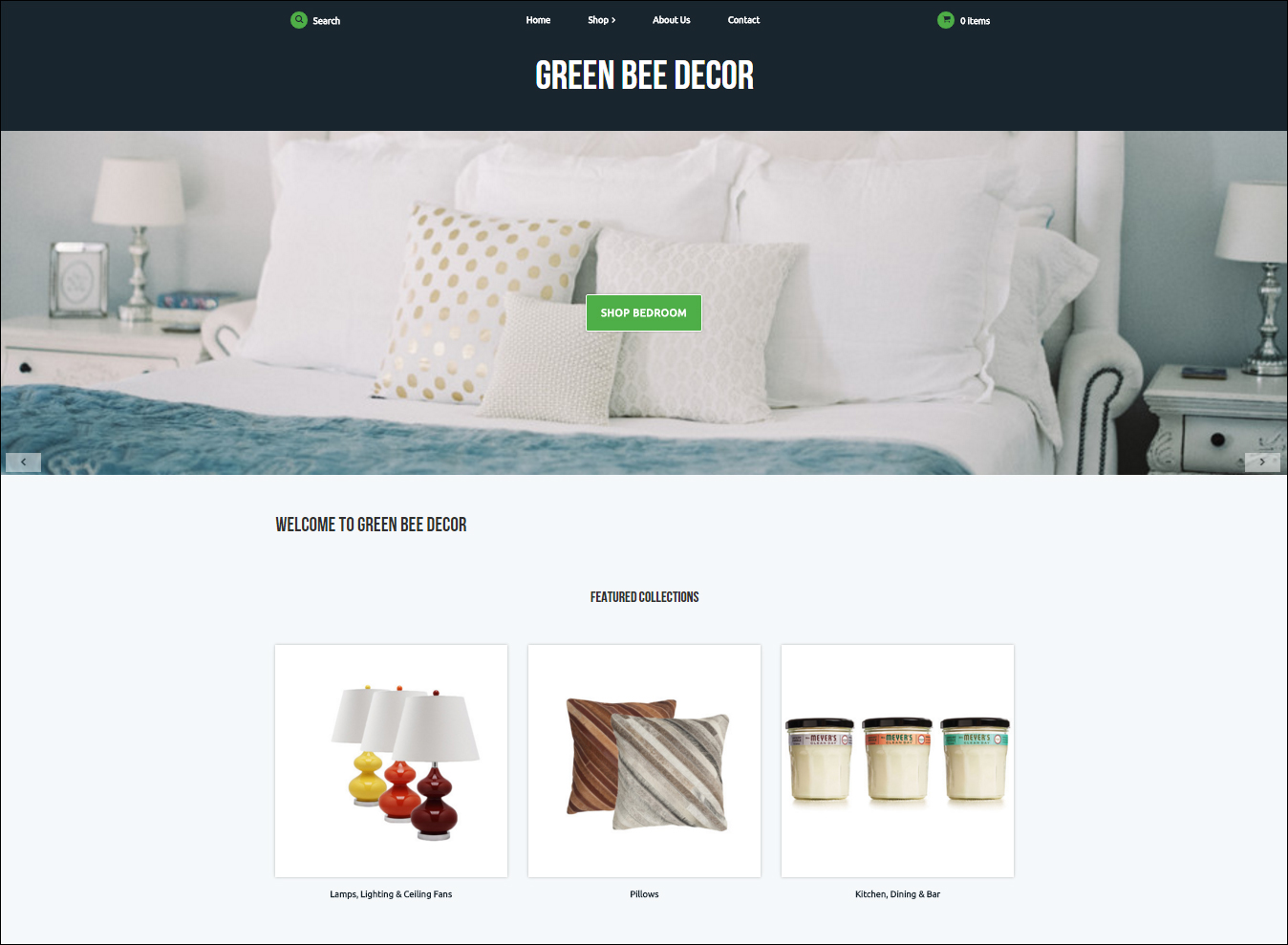 One of our newest Webstore themes, Sherman.