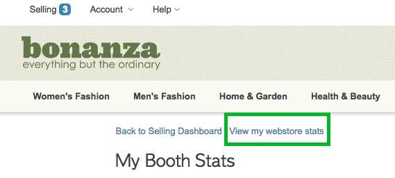 Webstore stats
